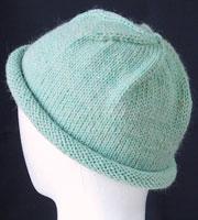 ニット帽(ビーニー)無料編み図。knit hat free pattern   knitting